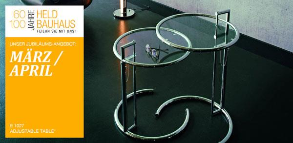 Bauhausklassiker vorgestellt: Adjustable Table von Eileen Gray